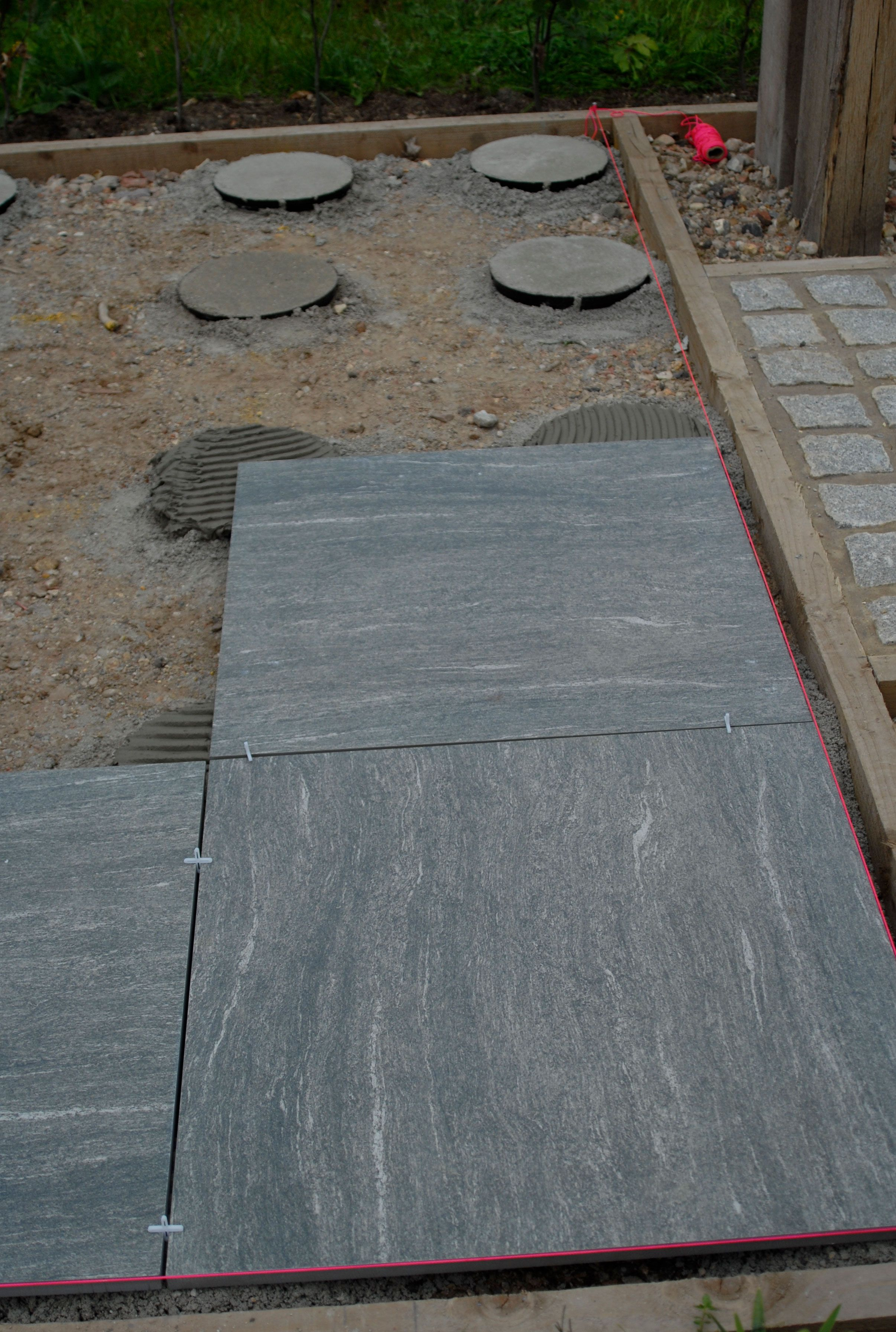 Did you know you can reduce the carbon footprint of your porcelain patio installation? Use the