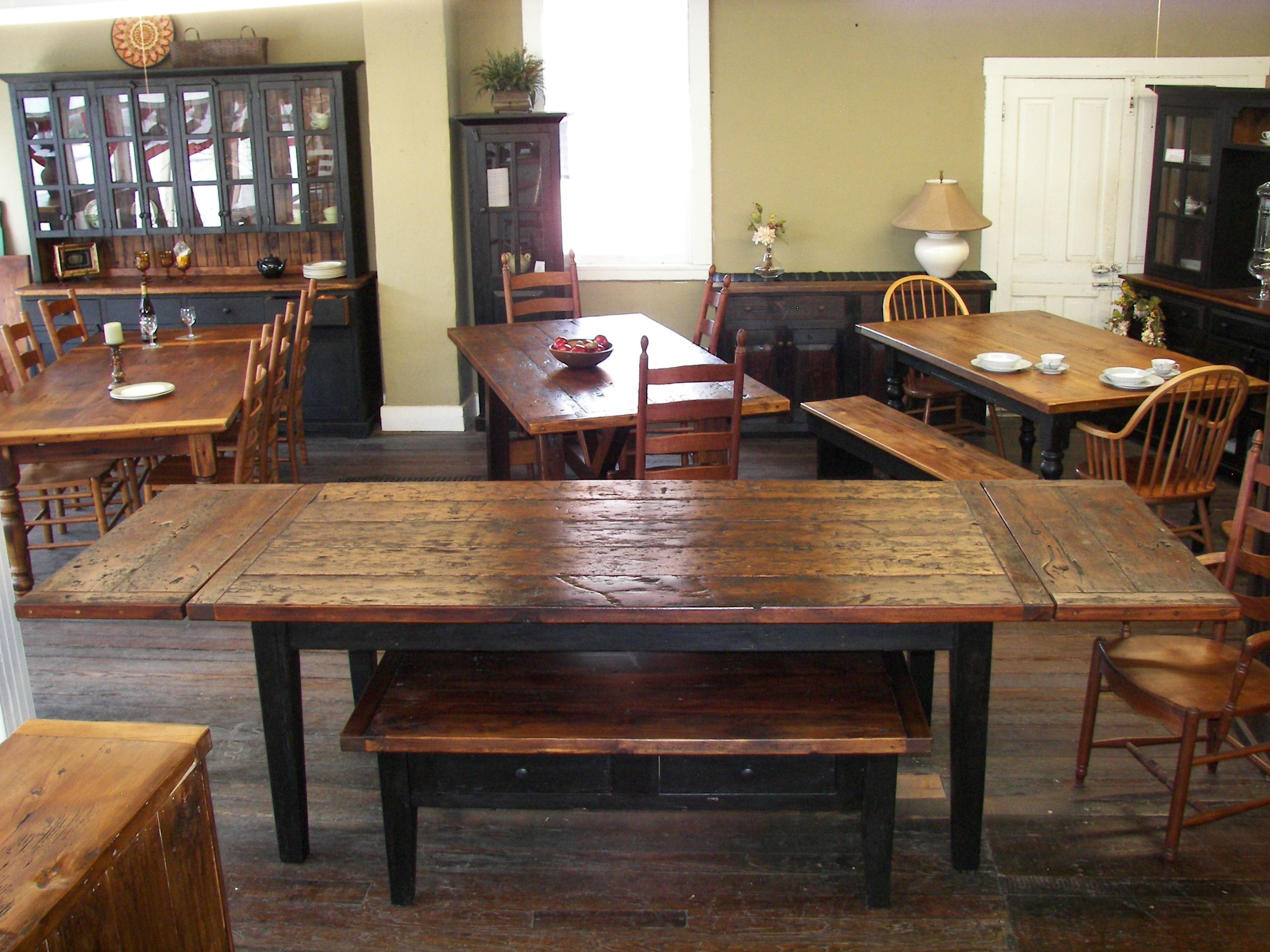 Reclaimed Barn Wood Farm Tables   100 200 Year Old Wood Is Transformed Into  One Of A Kind Furniture In The Heart Of Amish Country, Lancaster, ...