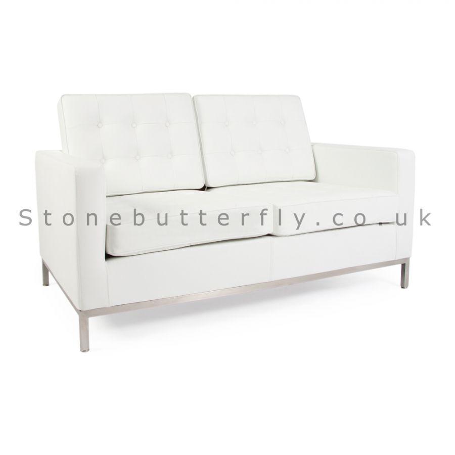 Bon Cool White Leather 2 Seater Sofa , Great White Leather 2 Seater Sofa 99 On  Modern