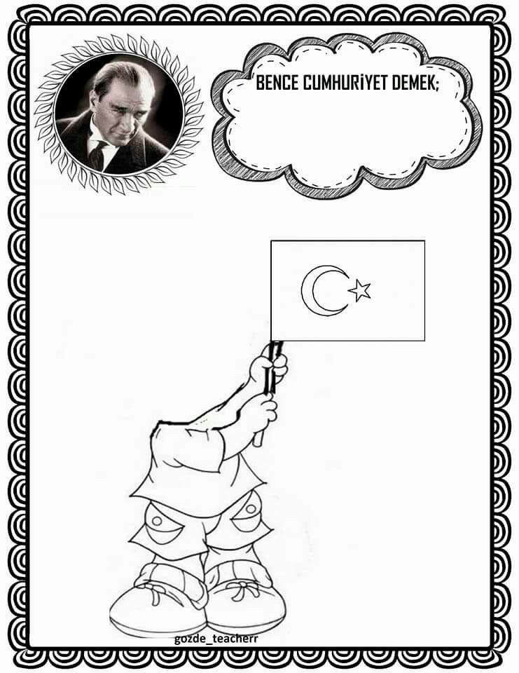 29 Ekim 29 Ekim Cumhuriyet Bayramı Atatürk Cumhuriyetin Ilanı Bayrak