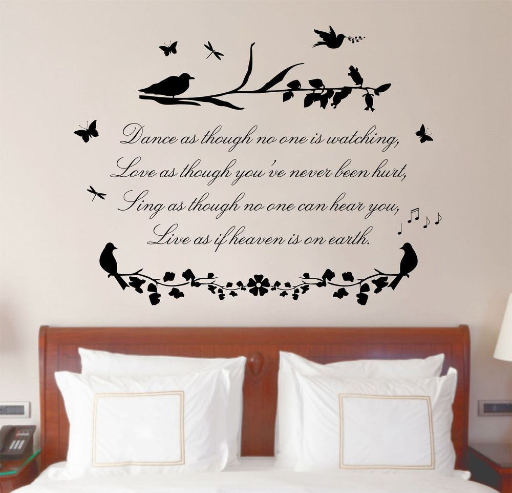 Love Quotes Wall Art Magnificent Dance Love Sing Quote Poem Vinyl Wall Art Sticker Mural