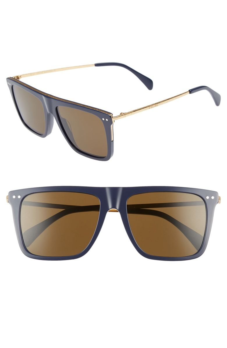 4bac990aa5e47 Free shipping and returns on Céline 54mm Flat Top Sunglasses at Nordstrom.com.  A flat brow bar