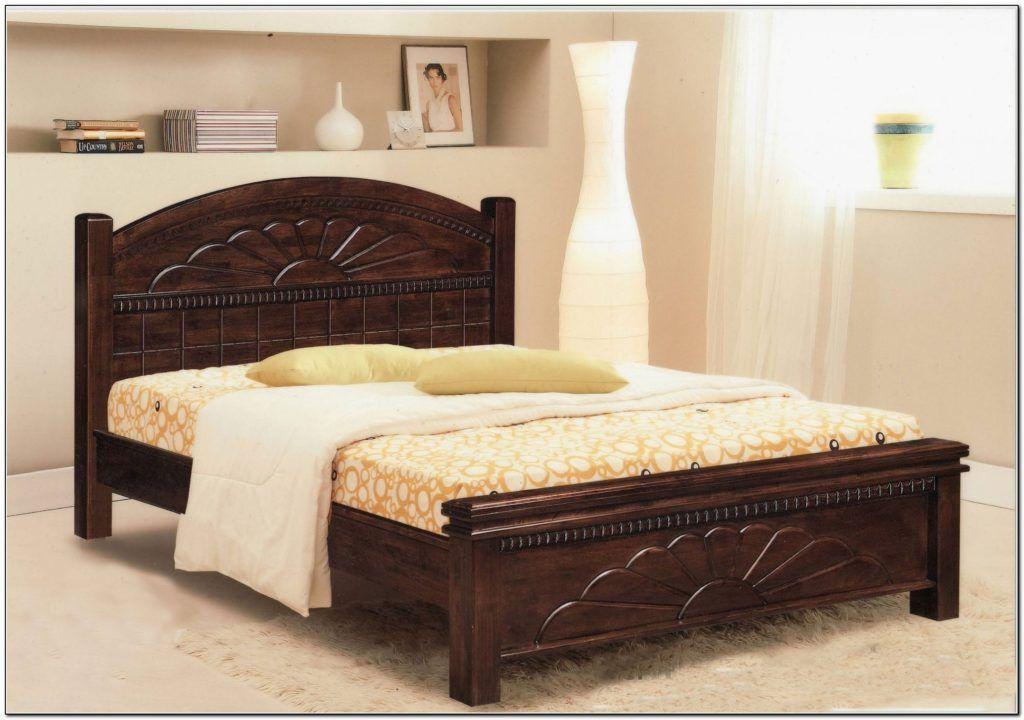 Bed Frame Full Size Wood In 2020 Bed Frame Design Bedroom Bed Design Bed Design