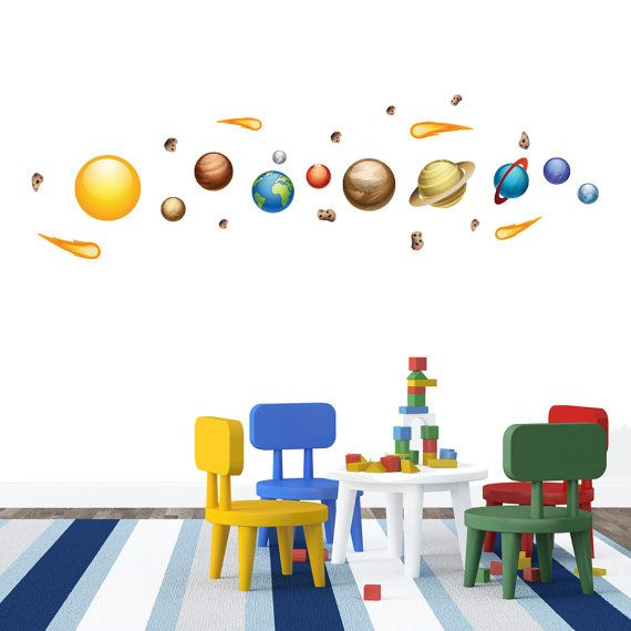 Solar System Wall Decals by WallsNeedLove on Etsy, $28.00 ...