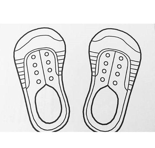 Shoe Tying Template