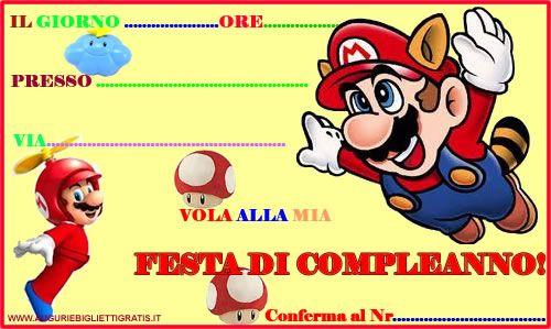 Inviti Da Stampare Gratis Cerca Con Google Inviti Super Mario