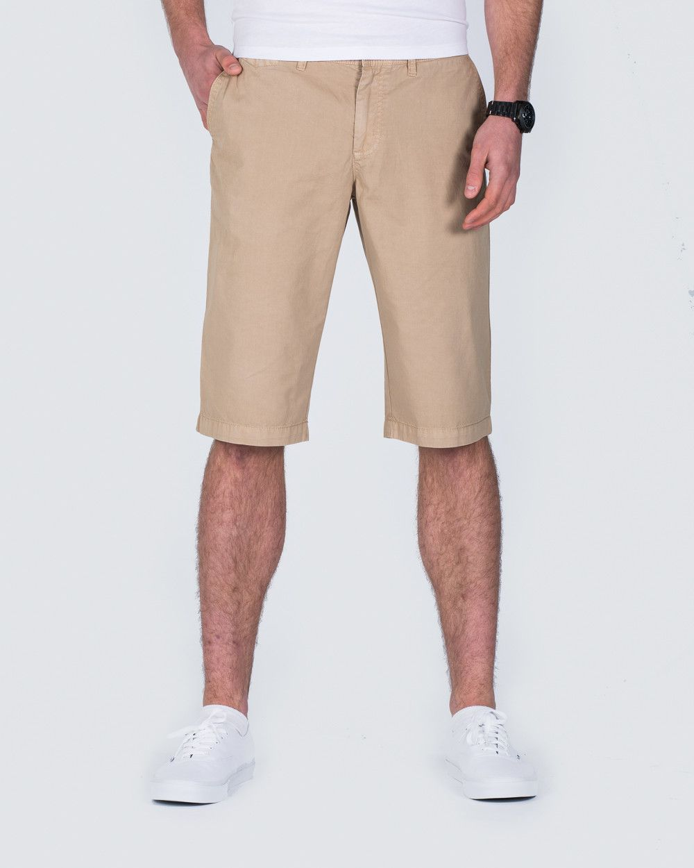 Redpoint Tailored Chino Shorts (beige) | Extra Long Tall Mens ...