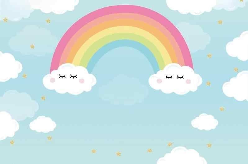 Wow 10 Wallpaper Warna Biru Kartun Laeacco Rainbow Latar Belakang Kartun Langit Biru Berawan Wallpaper Anak Potret Latar Belakang Fo Kartun Warna Hello Kitty