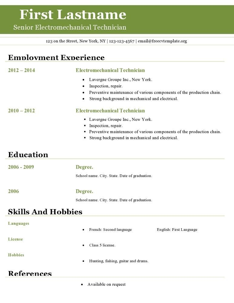 Inspiring Resume Template For Openoffice Pictures Di 2020