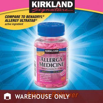 Kirkland Signature Allergy Medicine 25 Mg 600 Minitabs