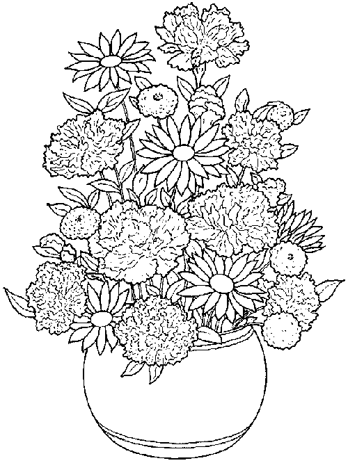Flower Pot Coloring Pages Printable Flower Coloring Pages Flower Coloring Sheets Spring Coloring Pages