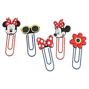 Disney Minnie Mouse Jumbo Paper Clip Set | Disney StoreMinnie Mouse Jumbo Paper Clip Set - Minnie's here to help out around the office as she organizes your documents with this set of jumbo paper clips. She's featured on two of the five colored clips which also include her bow, sunglasses and a pretty flower.