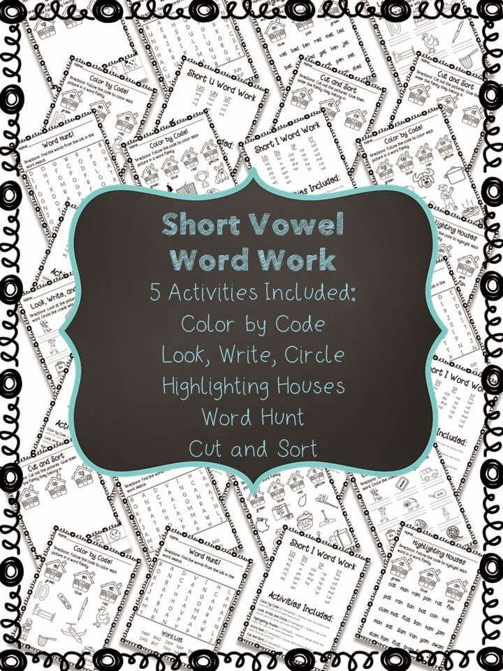 Classroom Confetti: Short Vowel Word Work is Now Here!