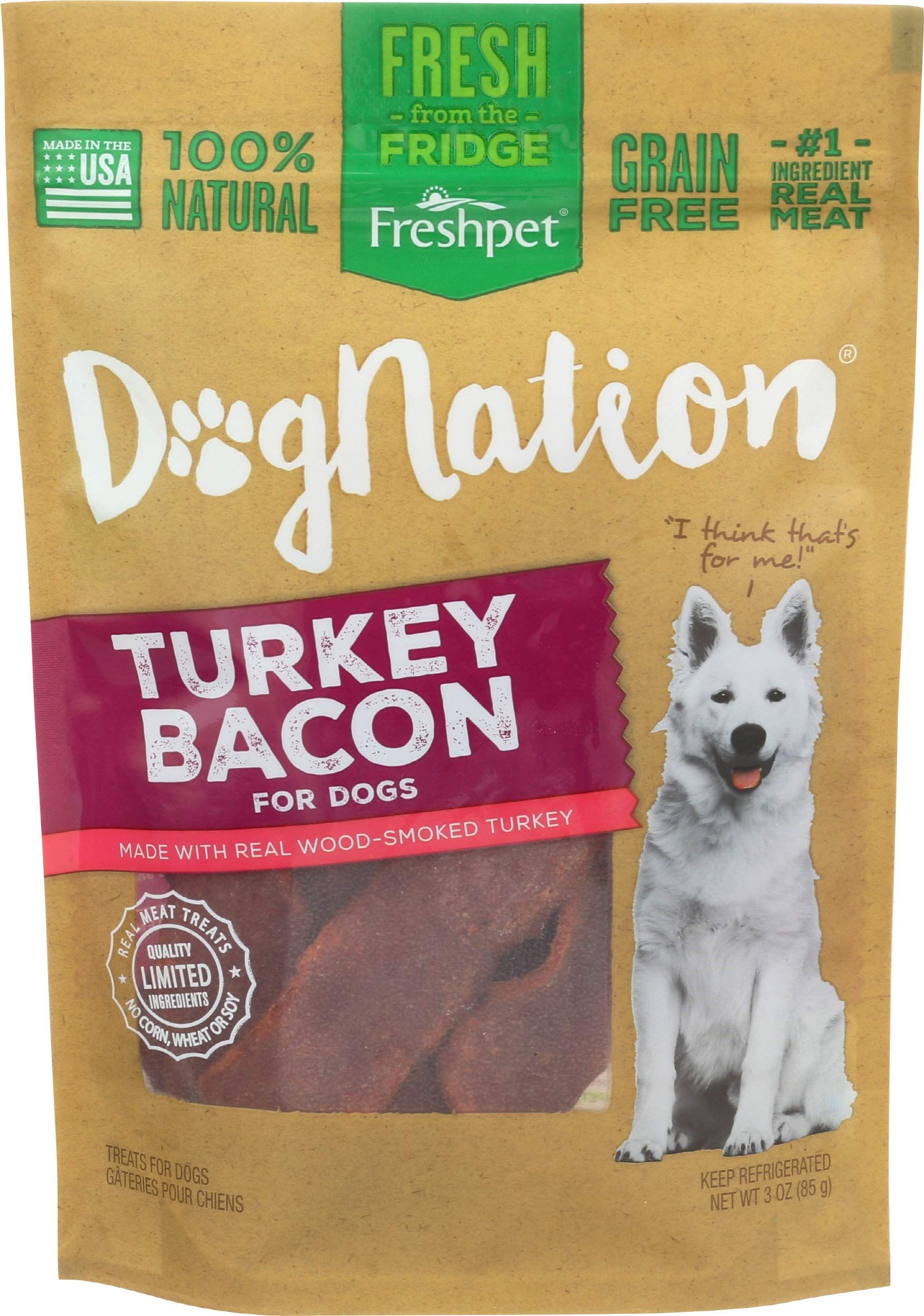 Freshpet Dognation Turkey Bacon pack in