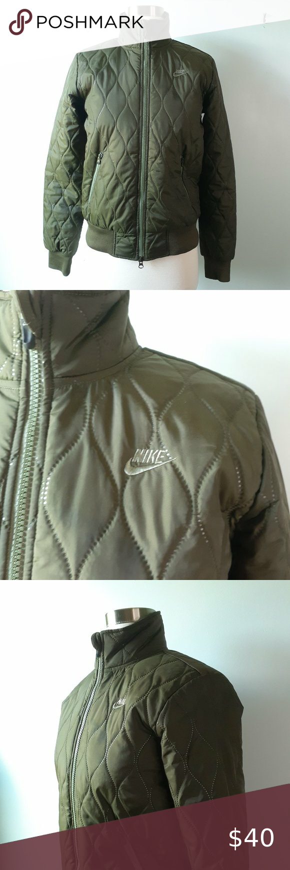 Nike Olive Green Mock Neck Puffer Jacket Xs Very Good Used Condition Puffer Jacket From Nike Size Extra Small Xs Olive Green Puffer Jackets Jackets Mock Neck [ 1740 x 580 Pixel ]