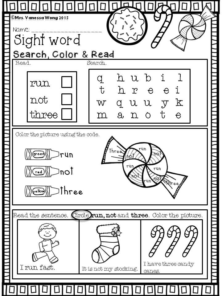 Christmas Math And Literacy No Prep Kindergarten Christmas Math Kindergarten Word Family Practice