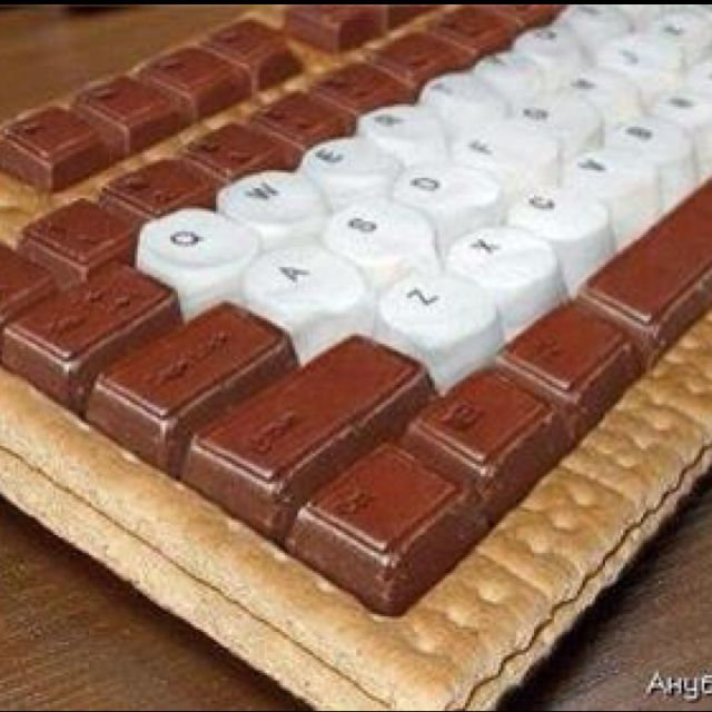 Chocolate Graham Crackers Dunmore Candy Kitchen: Computer Keyboard Made Of Chocolate, Marshmallows, Graham