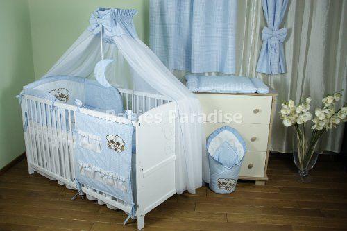 Kombi-Kinderbett m. Bettset Kariert (Bär #2 Design) KKK-002 von Babies Paradise, http://www.amazon.de/dp/B00KFIV498/ref=cm_sw_r_pi_dp_MDBLtb0YEMVHR