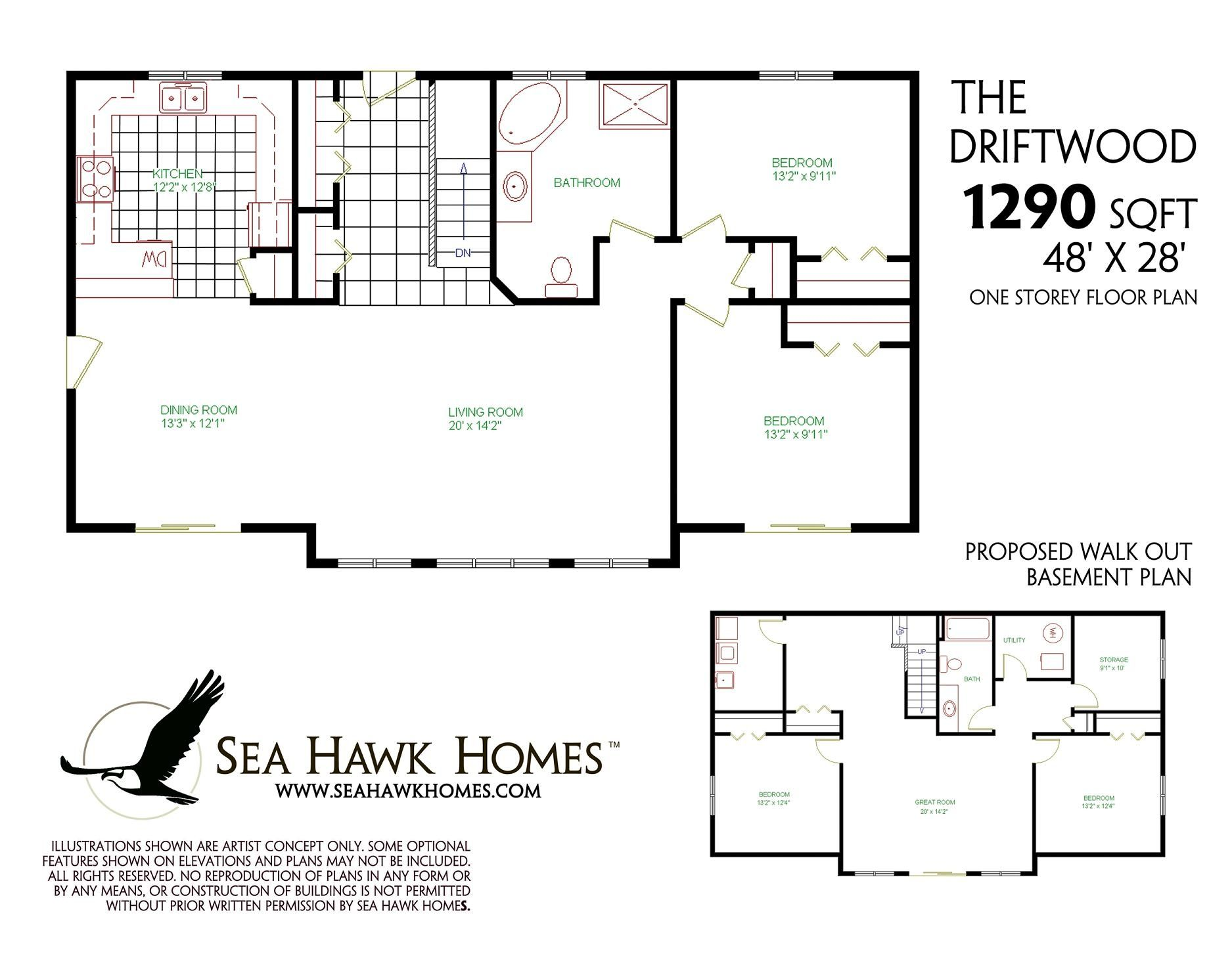 Floor Plans With Walkout Basements