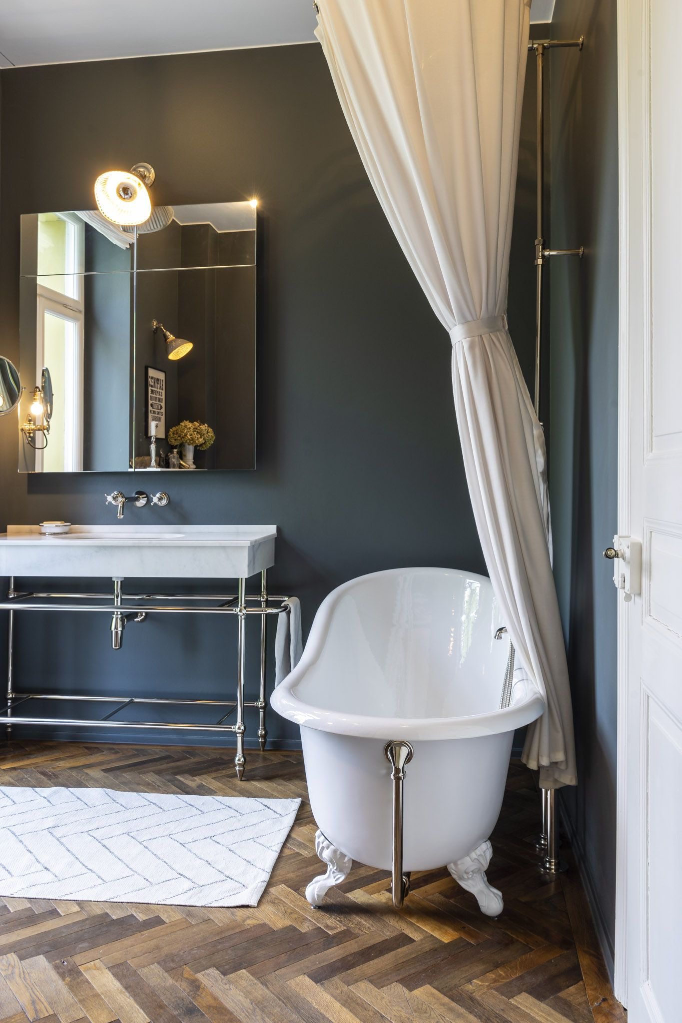 Bad im Vintage Stil   Badezimmer, Badezimmer gestalten ...