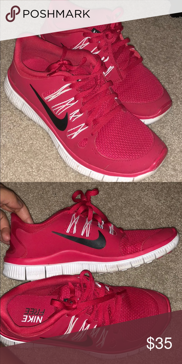 45bebcb6a61ca nike free run 5.0 cherry red worn 3 times amazing quality Nike Shoes  Athletic Shoes