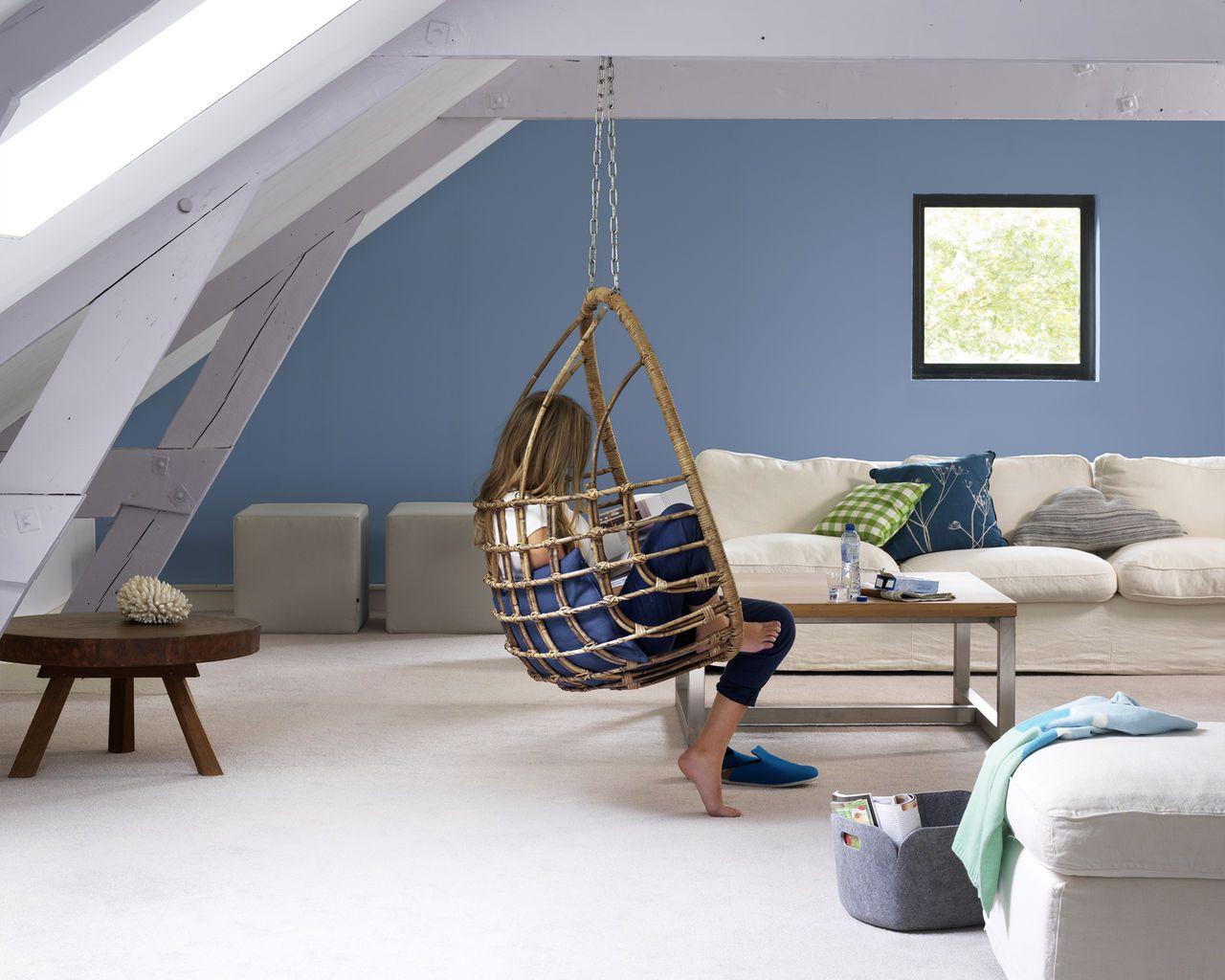 Quelle Couleur De Peinture Pour Un Salon pour ambiance zen pour un salon dédié au bien-être | nuances de bleu
