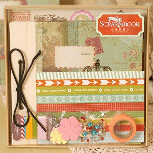 Guchina do it yourself scrapbook album kit scrapbook kit diy album amazon scrapbook kit with album scrapbooking album supplies kit diy album set 8383inch perfect for gift memory planner 4 designs to choose scf solutioingenieria Image collections