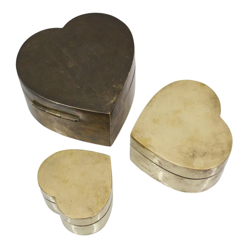 Steampunk Mechanical Heart Shaped Box with Lid Statue Figurine