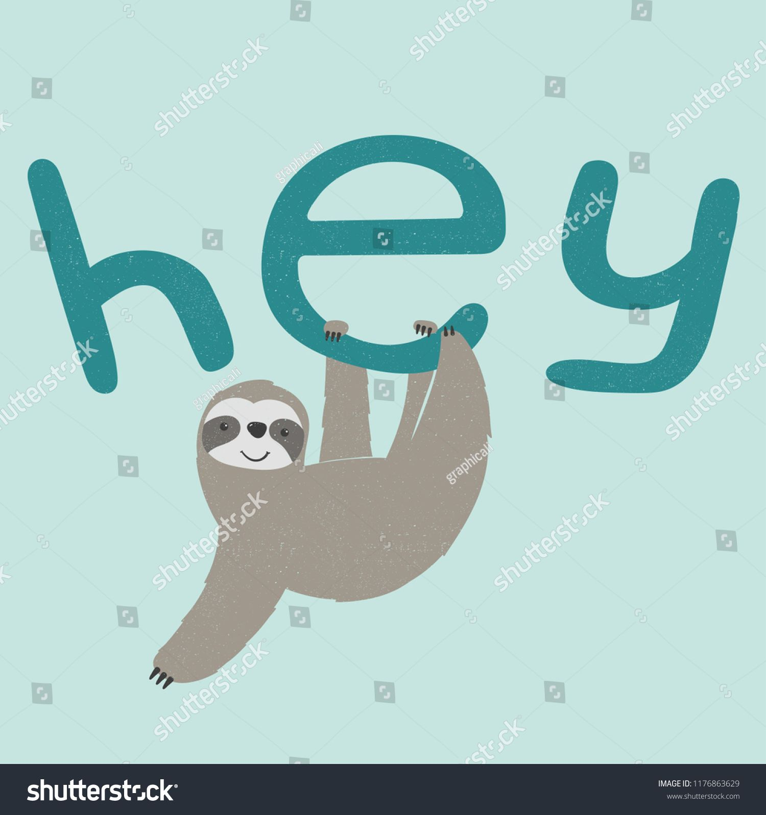 cool sloth hanging vector illustrationslothcoolhanging