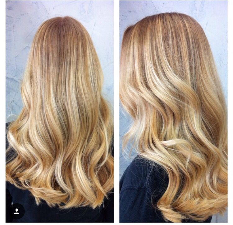 Golden Blonde Balayage Highlights