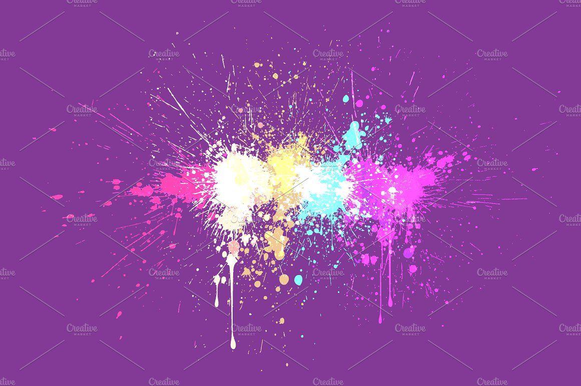 Paint Splash: 6 Backgrounds #themes#wallpapers#presentation