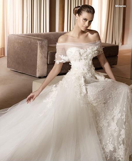 2015 New Elie Saab A Line Off Shoulder Ivory Lace Wedding Dresses