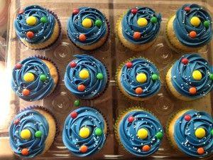 Vanilla Solar System Cupcakes | Party Ideas | Cupcakes ...