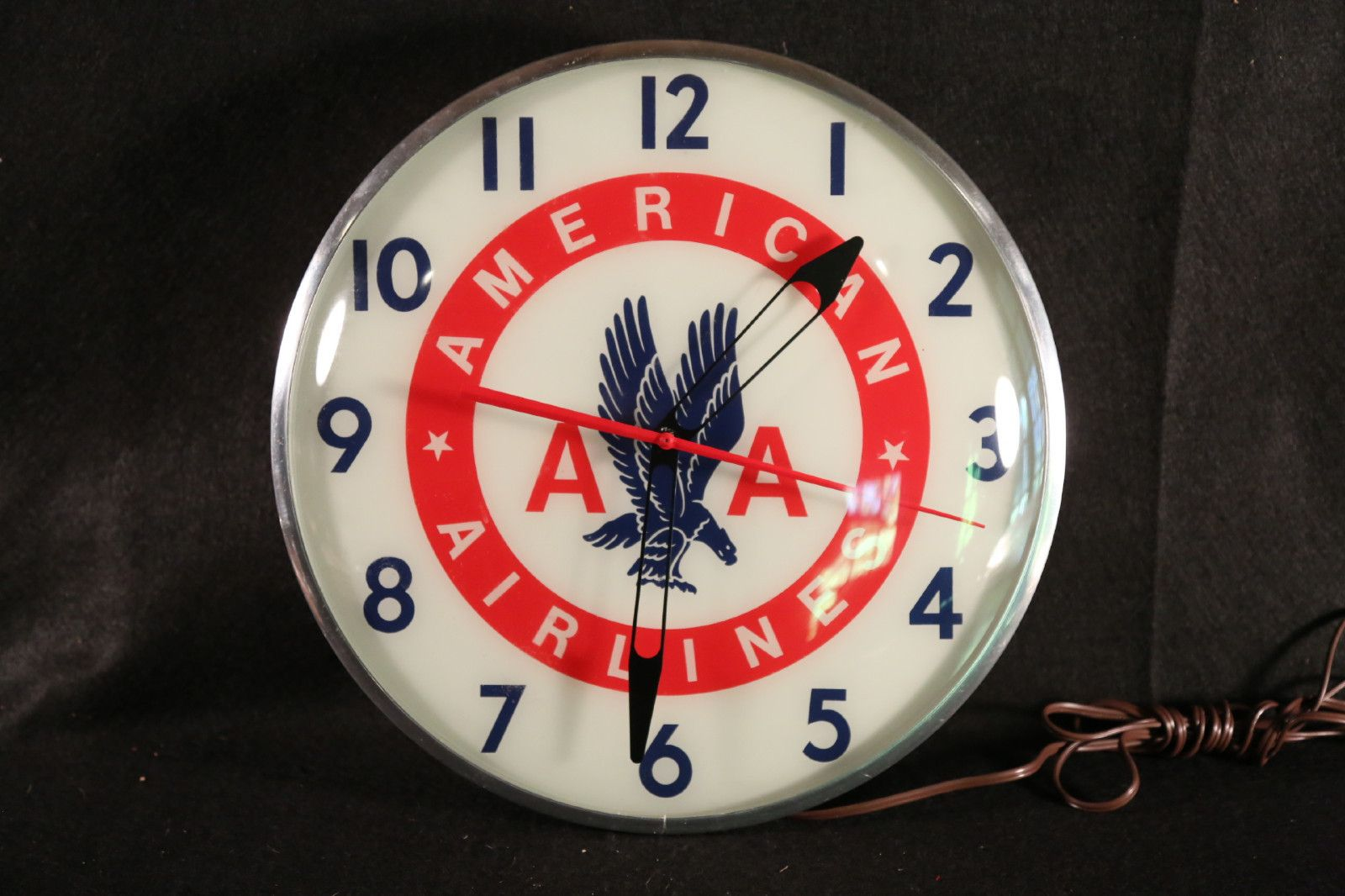 American airlines clock circa 1950 vintage aa airline advertising american airlines clock circa 1950 vintage aa airline advertising clock old antique original light aloadofball Images