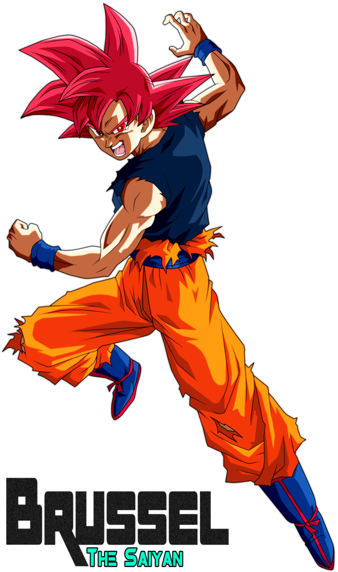 Super Saiyan God Goku By Brusselthesaiyan Deviantart Com On