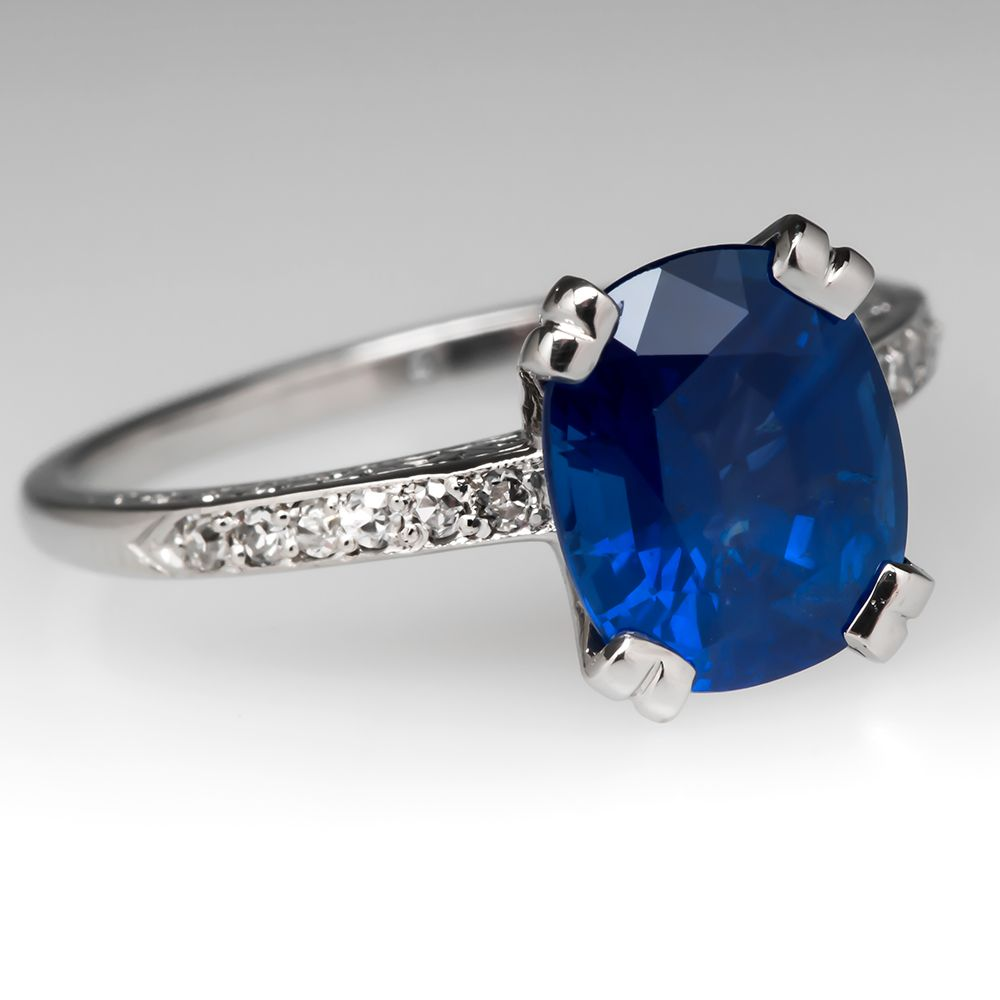 blue engagement carat sapphire modern of genuine attachment ring