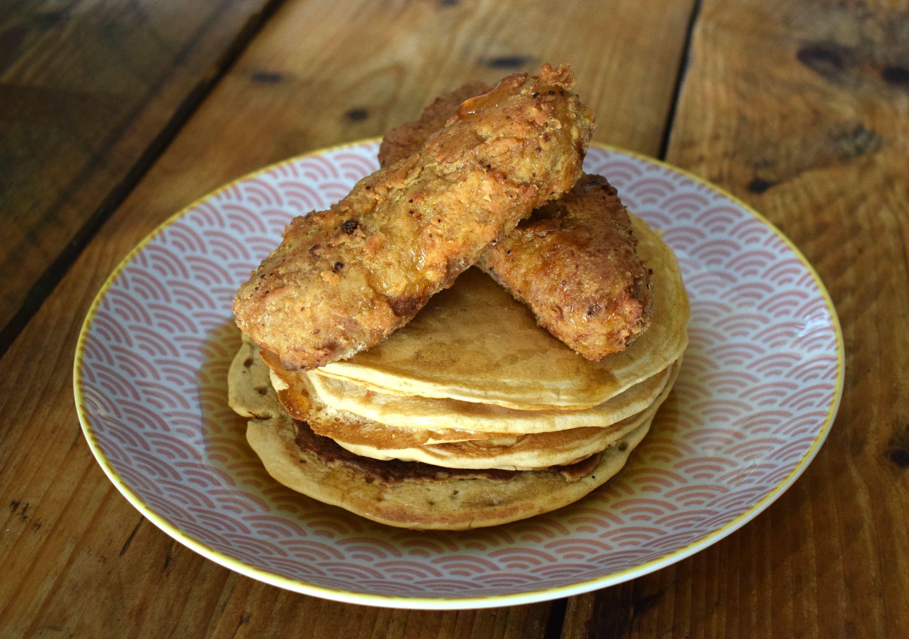 Vegan Fried Chicken And Pancakes Vegan Punks Vegan Fried Chicken Fried Chicken Best Vegan Recipes