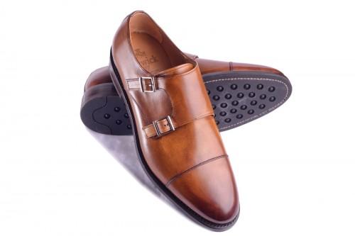 Berwick 3637 Cuero Monk Braz Klasyczne Buty Dress Shoes Men Oxford Shoes Dress Shoes