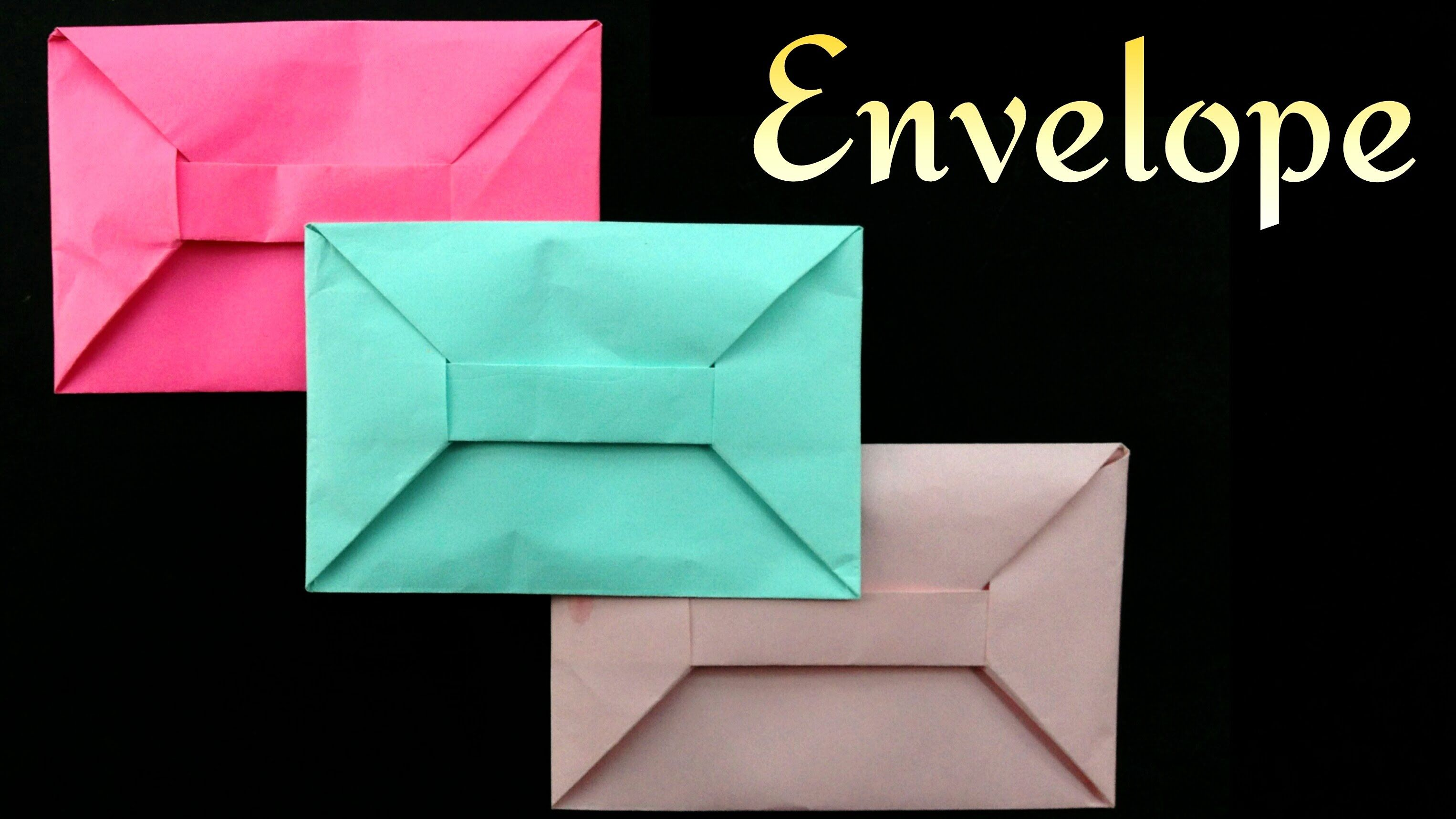 Envelope From A4 Sheet No Glue Or Tape Diy Origami Tutorial By