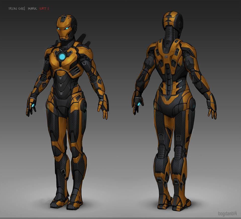 Armored Superhero Concept Art