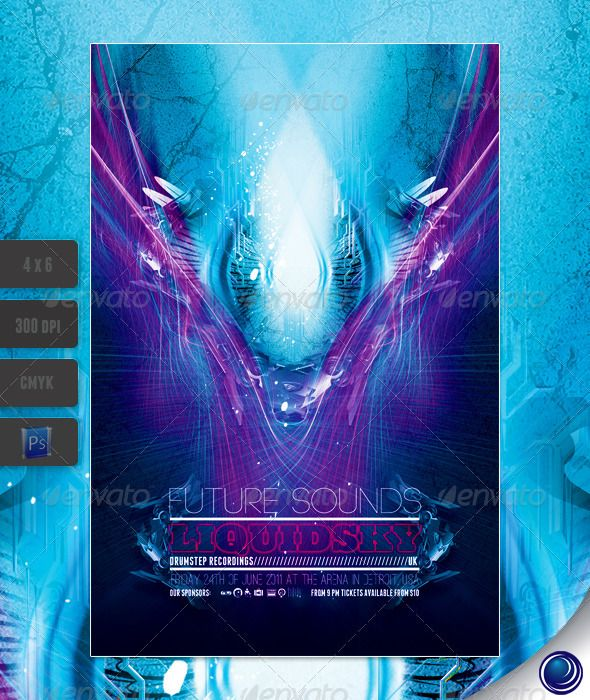 Futuristic Club Flyer Template  Club Flyers Flyer Template And