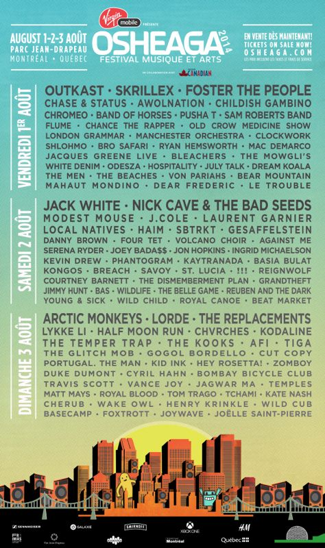 I'm so unbelievably excited fir Osheaga this year!!! It's gonna be awesome #osheaga