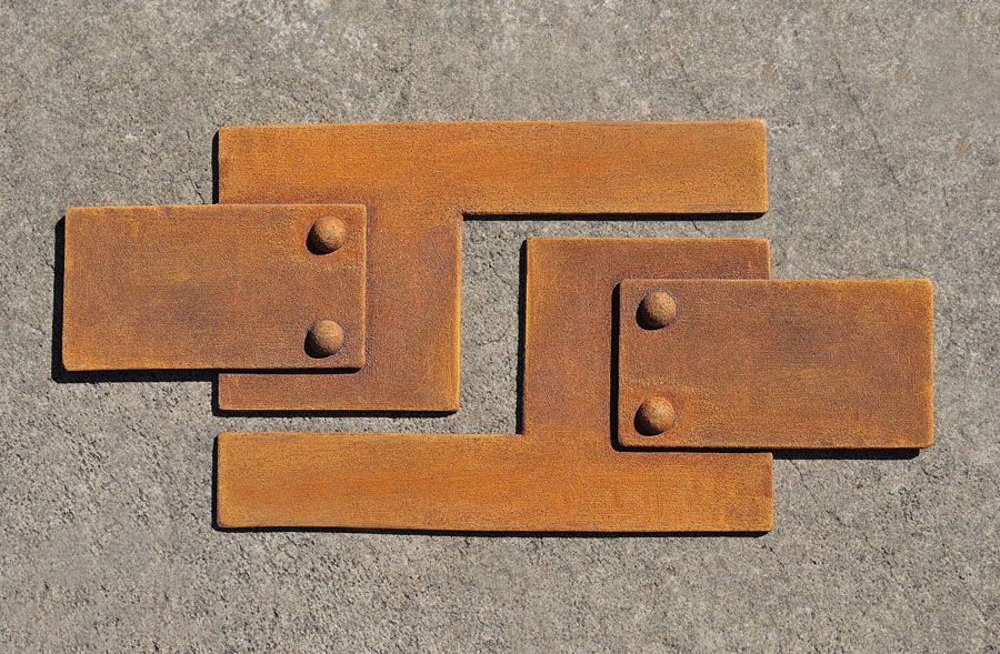 Rusted metal finish | Leonard Metal Design