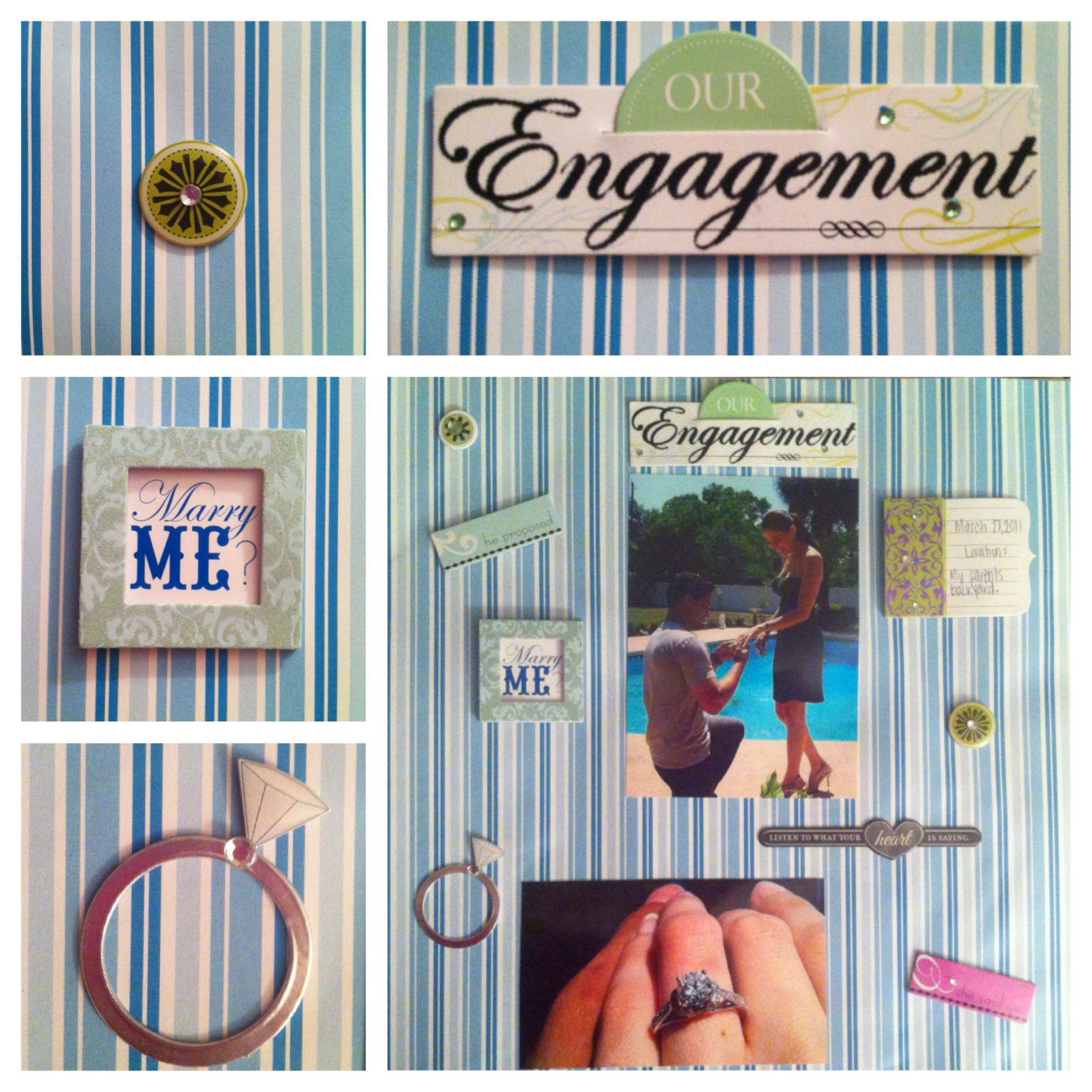 Scrapbook ideas engagement - My Engagement Scrapbook Page