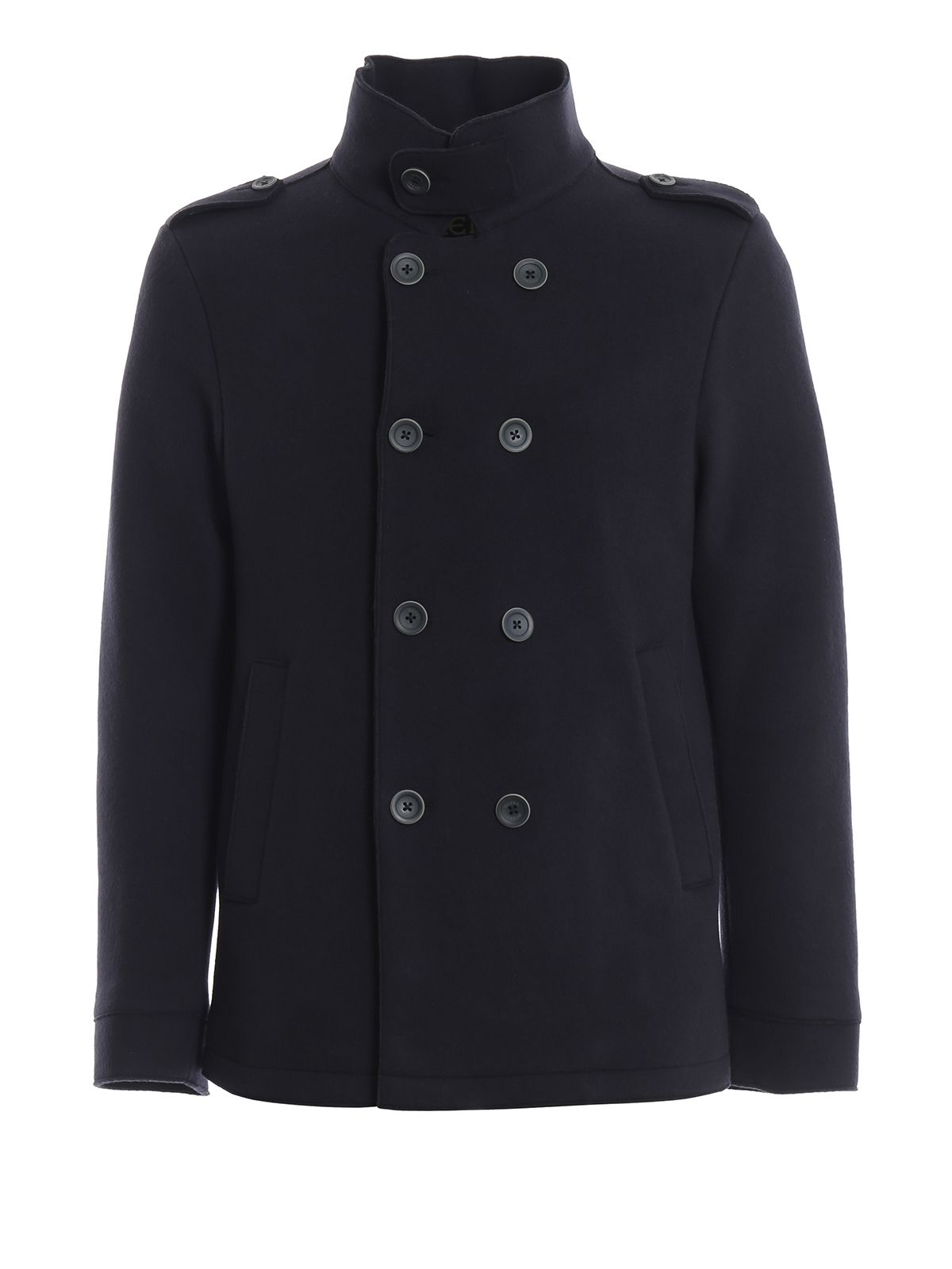 wholesale authorized site authentic HERNO CHILLPROOF DOUBLE-BREASTED PEACOAT. #herno #cloth ...