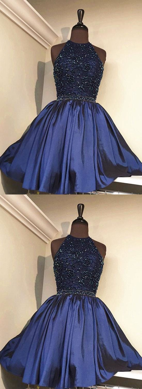 Cute homecoming dressesdark blue homecoming dressesa line
