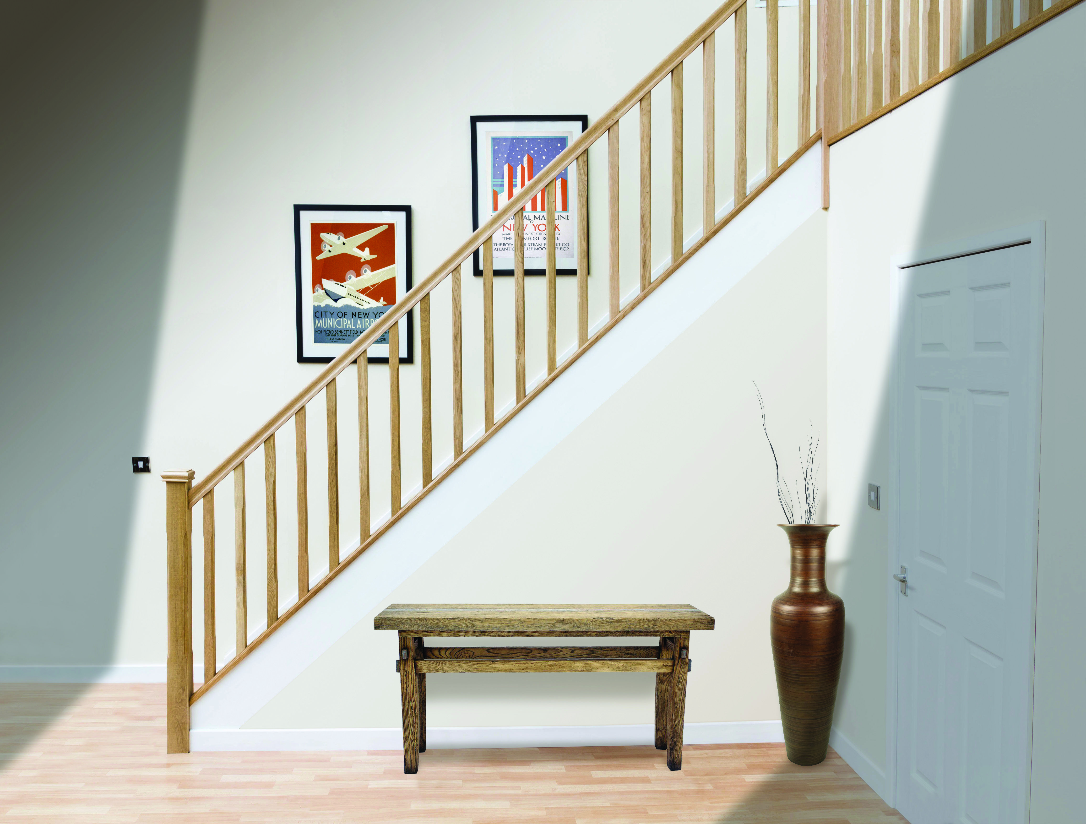 Best White Oak Staircase Staircase Design Oak Stairs 640 x 480