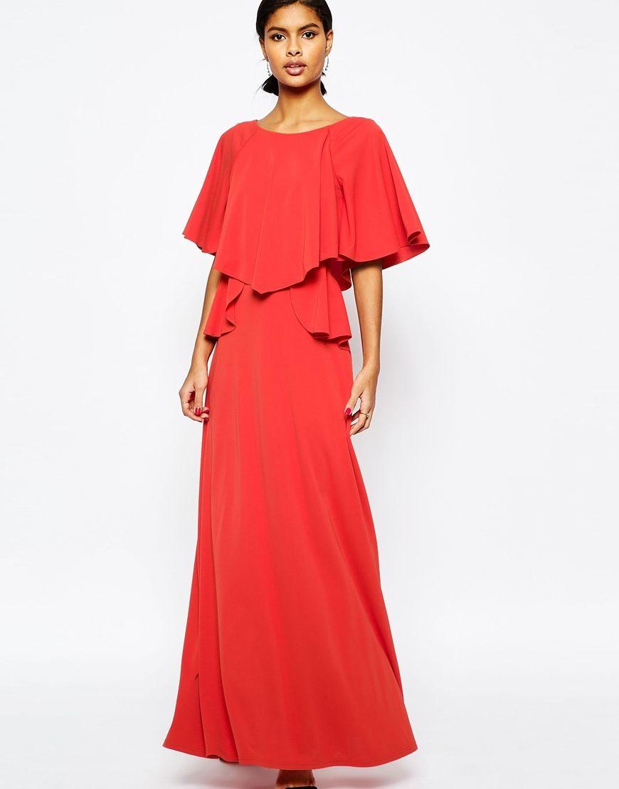 Image of asos full soft ruffle maxi dress dress for formal