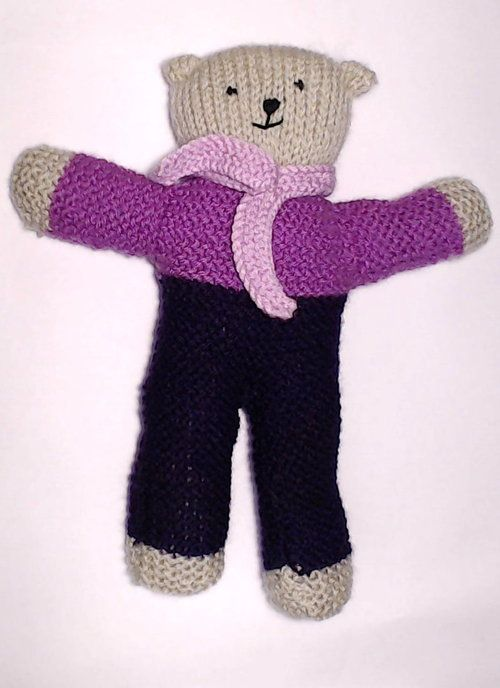 Charity bear made by Mitzi, UK for yarndale.co.uk (With ...