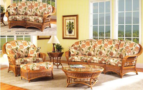 Mountain View Rattan and Wicker Sunroom Set from Classic Rattan ...